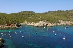 Port av San Miguel, Ibiza spain Arkivbild