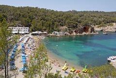 Port av San Miguel, Ibiza spain Fotografering för Bildbyråer