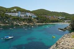 Port av San Miguel, Ibiza spain Arkivbilder