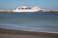Port av San Sebastian de la Gomera kanariefågelöar tenerife spain Royaltyfri Bild