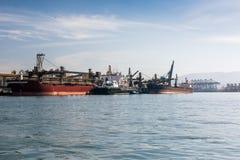 Port av Santos, Brasilien royaltyfria bilder