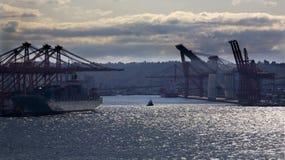 Port av Seattle Arkivfoton
