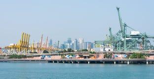 Port av Singapore Royaltyfri Bild