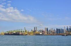 Port av Singapore Royaltyfria Bilder