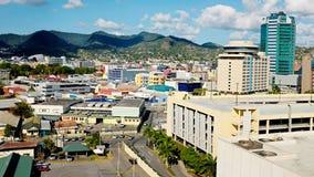 Port - av - Spanien på Trinidad - Trinidad och Tobago Arkivbilder