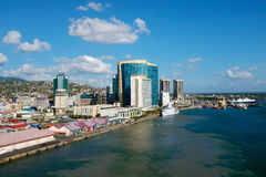 Port - av - Spanien - Trinidad och Tobago Fotografering för Bildbyråer