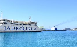 Port av splittring, Kroatien Royaltyfri Fotografi