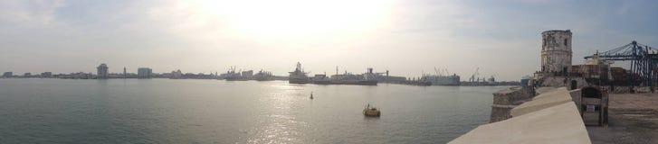 Port av staden arkivfoton