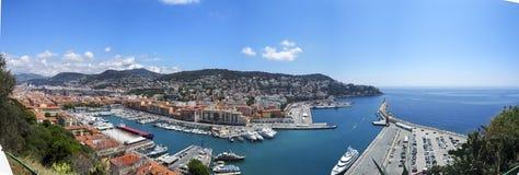 Port av staden av Nice, södra Frankrike Arkivfoton
