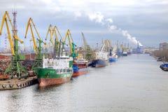 Port av staden St Petersburg Arkivfoto