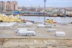Port av staden St Petersburg Fotografering för Bildbyråer
