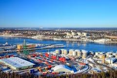 Port av Stockholm, Sverige arkivfoto