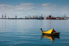 Port av Thessaloniki, Grekland Royaltyfria Bilder