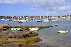 Port av Trégastel i Frankrike Royaltyfria Bilder