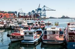 Port av Valparaiso - Chile Royaltyfri Bild