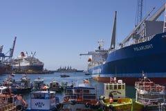 Port av Valparaiso, Chile royaltyfria bilder