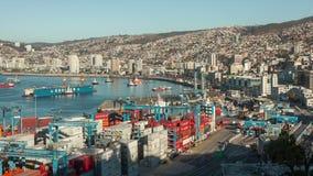 Port av Valparaiso, Chile arkivfilmer
