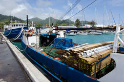 Port of Avatiu - Island of Rarotonga, Cook Islands Royalty Free Stock Photos