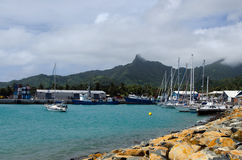 Port of Avatiu - Island of Rarotonga, Cook Islands Royalty Free Stock Images