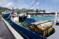 Port Avatiu - wyspa Rarotonga, Kucbarskie wyspy Zdjęcia Royalty Free