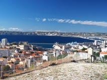 Port avec le port de bateaux des Frances de Marseille Photographie stock