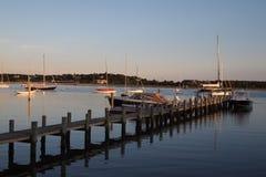 Port avec un pilier Photo libre de droits