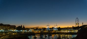 Port Aventura al anochecer en verano Royalty Free Stock Photography