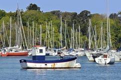 Port of Bénodet in France Royalty Free Stock Image