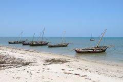 Port in Bagamoyo town. The town of Bagamoyo was the original capital of German East Africa and was one of the most important trading ports along the East African Royalty Free Stock Photo