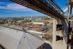 Port in Bahia Blanca, Argentina. Royalty Free Stock Photo