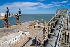 Port in Bahia Blanca, Argentina. Stock Photos