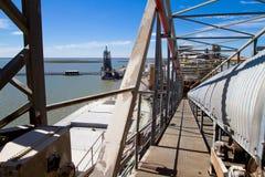 Port in Bahia Blanca, Argentina. Stock Photo