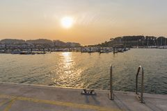Baiona Pontevedra, Spain. Port of Baiona Pontevedra, Spain Royalty Free Stock Photos
