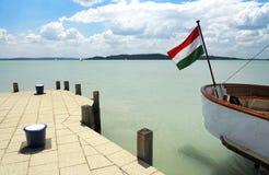 Port of Balatonfured at Lake Balaton Stock Image
