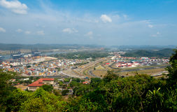 Port of Balboa and Albrook Airport. Formerly part of U.S. Panama Canal Zone Royalty Free Stock Images