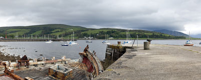 Port Bannatyne. Picture taken of boats moored off Port Bannatyne. This port is located on the Western Isle of Bute off mainland Scotland in the UK. It had been Royalty Free Stock Images
