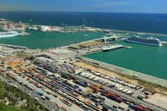 Port in Barcelona Royalty Free Stock Image