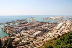 Port of barcelona. Sea port of Barcelona, Spain Stock Photography