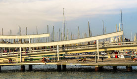 Port of Barcelona ambiance Royalty Free Stock Images