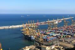 Port of Barcelona - logistics area Royalty Free Stock Image