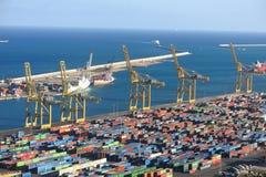 Port of Barcelona - logistics area Stock Photo