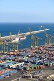 Port of Barcelona - logistics area Royalty Free Stock Photography