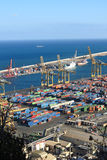 Port of Barcelona - logistics area Royalty Free Stock Photos