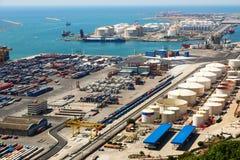 Port of Barcelona -  logistics port area Stock Photo