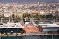 Port. Barcelona punkt zwrotny, Hiszpania. Fotografia Royalty Free