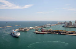 The port of Barcelona, Spain Stock Images