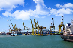 Port of Barcelona Spain Royalty Free Stock Photos