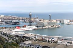 The Port Of Barcelona, Spain Stock Image