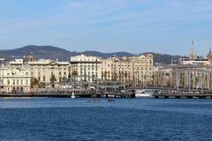 Port of Barcelona, Spain Port Vell Stock Photo