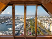 The port of Barcelona, Spain royalty free stock photos